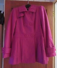 CHADWICKS WOOL POLYESTER COAT JACKET FALL WINTER WOMENS LADIES JUNIOR PINK 10
