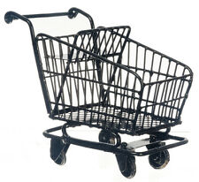 Shopping Trolley Cart, Dolls House Miniatures, Wire Supermarket Trolley, 1:12th