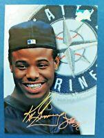 1993 Leaf Studio #96 Ken Griffey Jr. Seattle Seattle Mariners HOF Auto Sign