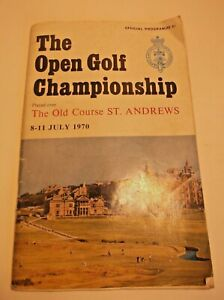 OPEN GOLF CHAMPIONSHIP 1970 St. Andrews OFFICIAL PROGRAMME- FREE W/W SHIPPING.