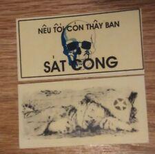 NVA / VIETCONG VIETNAM WAR ORIGINAL TRAIL DEATH CARD