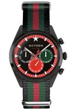 Oxygen Roma 40 Unisex Quartz Watch with black Dial Analogue Display