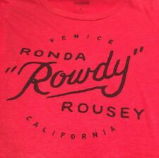 Reebok Red T-Shirt Women's SZ Large UFC Ronda Rowdy Rousey Venice, CA Pre-owned