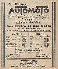 Z9060 AUTOMOTO - Cycles & Motos -  Pubblicità d'epoca - 1928 Old advertising
