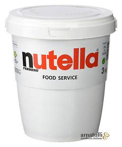Ferrero Nutella 3 kg XXL Eimer - Nuss-Nugat-Creme - Haselnuss Brotaufstrich