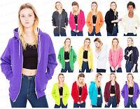Ladies Girl NEW PLUS SIZE Zip Up Sweatshirt Hooded Hoodie Coat Jacket Top S-5XL