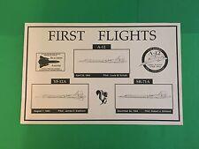 """1ea Rare Poster SR71 Blackbirds A12, SR71, YF-12A  16.5"""" X 10"""" Ships Worldwide >"""