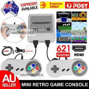 621 Classic Retro Game HDMI TV Console Upgraded Mini NES Nintendo Gamepads AU