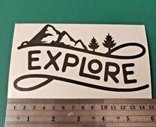 Explore Adventure logo - Camper/Car/Van/Fridge/Laptop Vinyl Decal Sticker