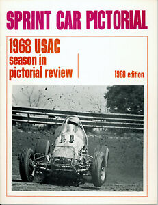 SPRINT CAR PICTORIAL 1968 USAC SPRINT CAR AUTO RACING FIRST ISSUE MINT!