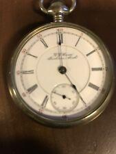 Antique J J Case 18 size pocket watch Coin Silver case (Very Rare)