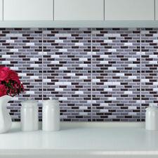10pc 3D Mosaic Self Adhesive Wall Tile Brick Sticker Bathroom Kitchen Waterproof