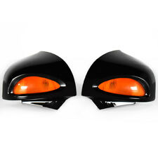 Gloss Black Rearview Mirrors Amber Turn Signal For BMW R1100RT R1500RT 1100 1150