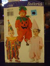 Butterick 4598 Infant's Pumpkin, Clown & Princess Costume Pattern - Sz 13-17 lbs