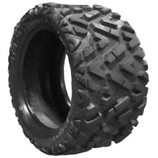 "Black Steel Golf Cart Wheels 12"" w/ 25"" Lifted Golf Cart Tires - Set/4 mounted"
