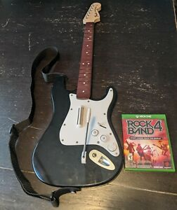 Rock Band 4 Wireless Fender Stratocaster Xbox One w/ Strap and Game, Model 91161