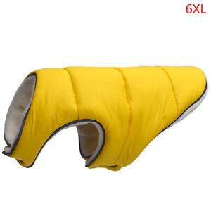 Warm Winter Dog Clothes Reflective Clothing Vest Fleece Pet Jacket Dogs Coat  --