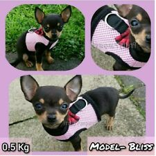 Pink XXXS TINY Puppy Dog Coat Chihuahua Harness and Leash Set