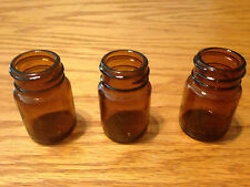 "Blooze Bottle Glass Guitar Slide - Short 2"" Amber - SA1 - 3 Pack - New"