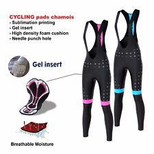 FDX Women's Cycling Bib Tights Winter Thermal Gel Padded Pants Cycling Trouser