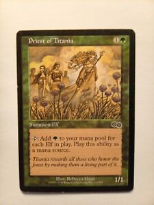 MTG Priest of Titania Urza's Saga LP,
