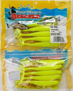 """20 SALTWATER BASS ASSASSIN 4"""" SPACE GUPPY SEA SHAD"""