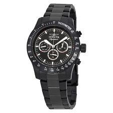 Invicta Signature II Chronograph Black Dial Black PVD Steel Mens Watch 7352