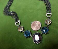 Vtg Sorrelli Multcolor/Faceted LRG Austrian Crystal Choker Necklace-Adjustable