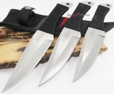 "8.5"" Gil Hibben Full Tang Ninja 3PC Balanced Throwing Knife Knives Set GH0947"