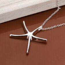 Fashion Womens Beautiful Starfish Pendant Chain Necklace Silver Jewelry Gift