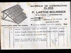 """CHATEAUROUX (36) MATERIAUX de CONSTRUCTION """"P. LARTHE & BOURBIER"""" en 1956"""