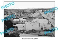 OLD 6 x 4 PHOTO OF BEECHWORTH VICTORIA TOWN CENTRE c1880