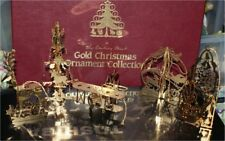 """Danbury Mint """" Gold Ornaments, Complete Set Of 12 In Box"""" 23Kt,"""