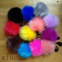 Ponytail Band Hair Accessories 2x6CM Pompom Elastic Hair Ties Bobbles Fur Ball