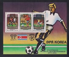Korea. 1980 Sc # 1980 W. Cup Soccer Sheet of 2 + Label Mnh (47719)