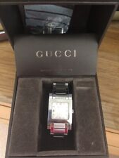 Gucci Sterling Silver Square Faced Watch