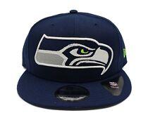 Seattle Seahawks New Era 9Fifty XL Logo Threads Adjustable Snapback Hat Cap NFL