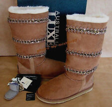 New In Box $395. AUSTRALIA LUXE COLLECTIVE Ulysses Boots 9 Sheepskin Suede Snow
