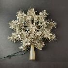 """Vintage 10"""" Christmas Tree Star Topper w/ Star-Shaped Lights and Silver Tinsel**"""