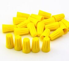 100Pcs Yellow P4 Wire Connector Twist-On Terminals Cap Spring 22-10 Awg