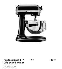 KitchenAid Pro 5 Plus 5qt Bowl-Lift Stand Mixer  - KV25G0XB Black  NEW SEALed