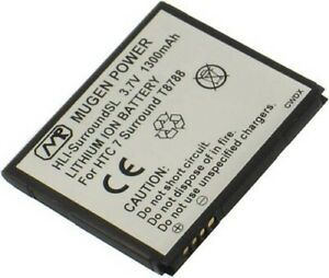 NEW MUGEN 1300mAh SLIM EXTENDED BATTERY FOR AT&T HTC SURROUND T8788 CELL PHONE