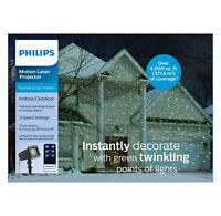 Philips Christmas Green Motion Laser Projector Twinkling Dot Pattern Remote~5303