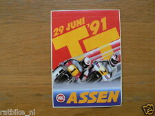 STICKER,DECAL DUTCH TT ASSEN 1991  MOTO GP GRAND PRIX ROADRACE