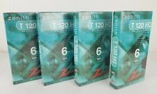 Zenith T-120 Blank 6-hr VCR VHS Cassette Tapes Lot Of 4 NEW