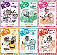 Dr. Kittycat Series Collection Set Books 1-6 Paperback By Jane Clarke Brand New!