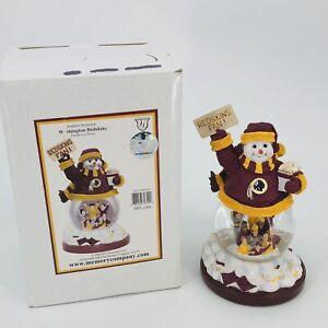 Washington Redskins ~ SNOWMAN Fan Water Globe 2005 NFL Memory Co. Christmas New!
