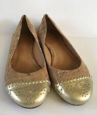 Jack Rogers Gold Cork Delfino Ballet Flats Size 6