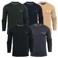 Brave Soul Persian Mens Jumper Cotton Crew Neck Sweater