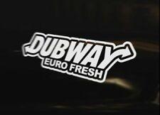 DUBWAY EURO FRESH DUB Decal Golf Polo MK1 MK2 MK3 MK4 MK5 MK6 GT TDi GTi VR6